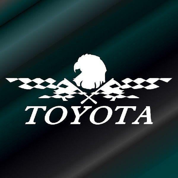 ステッカー かっこいい チェッカー フラッグ エンブレム TOYOTA トヨタ 車 レーサー インパクト|ginkage|02