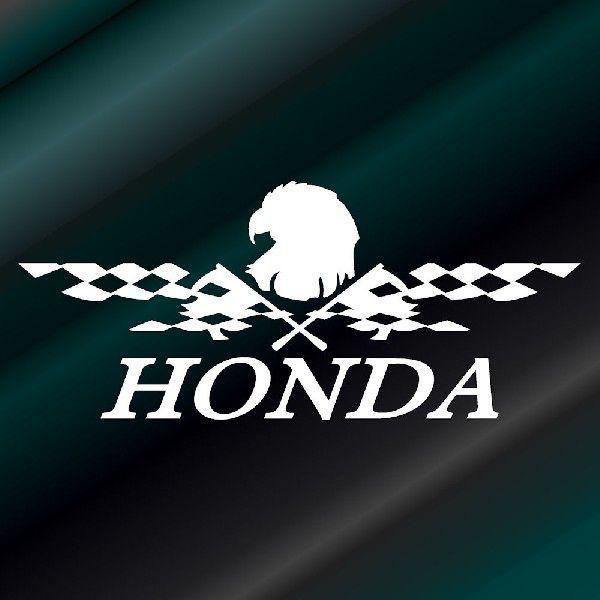 ステッカー かっこいい チェッカー フラッグ エンブレム HONDA ホンダ 車 レーサー インパクト|ginkage|02