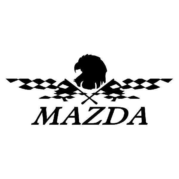 ステッカー かっこいい チェッカー フラッグ エンブレム MAZDA マツダ 車 レーサー インパクト|ginkage