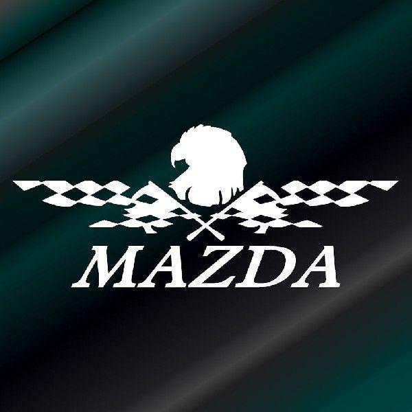 ステッカー かっこいい チェッカー フラッグ エンブレム MAZDA マツダ 車 レーサー インパクト|ginkage|02