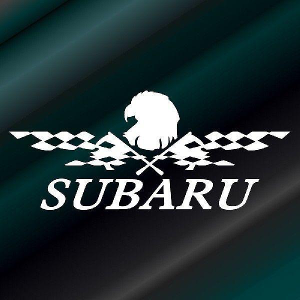 ステッカー かっこいい チェッカー フラッグ エンブレム SUBARU スバル 車 レーサー インパクト|ginkage|02