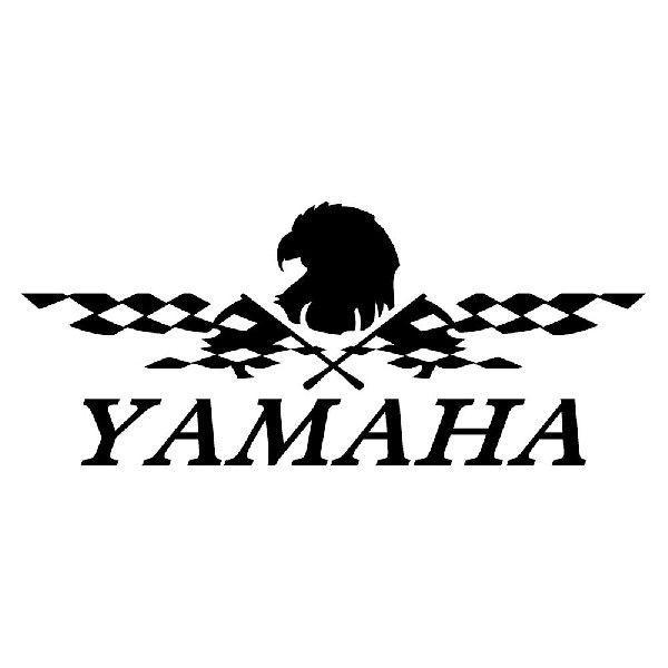 YAMAHA ヤマハ かっこいい レーシング フラッグ ステッカー 車 バイク おしゃれにドレスアップ|ginkage