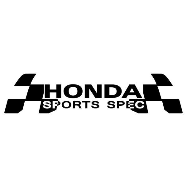 車 ステッカー ホンダ HONDA かっこいい スポーツ スペック ドレスアップ カッティング ステッカー