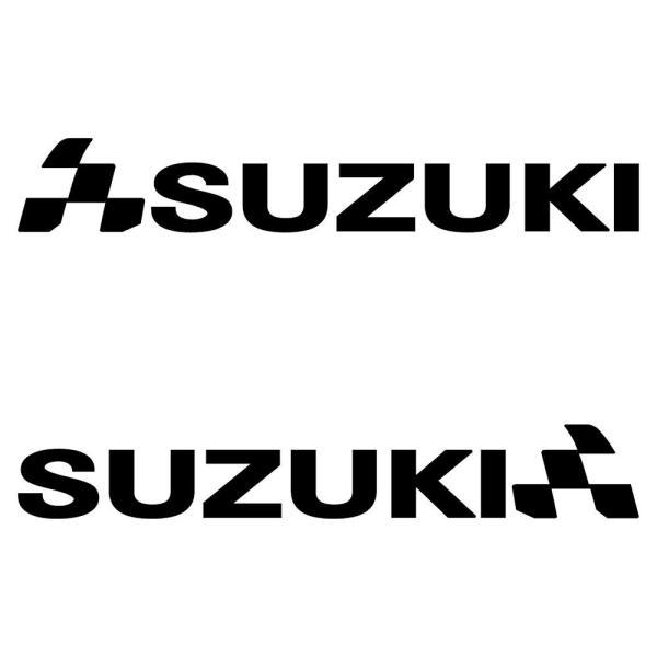 ステッカー 車 バイク スズキ SUZUKI  かっこいい チェッカー フラッグ スポーツ メーカー ロゴ 左右反転 セット|ginkage|02