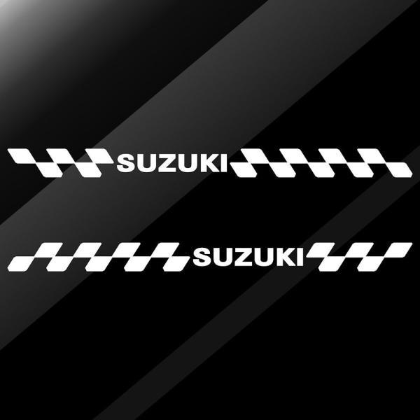 ステッカー SUZUKI スズキ 車 バイク かっこいい レーシング スポーツ エンブレム 両サイド用 ツインセット ginkage