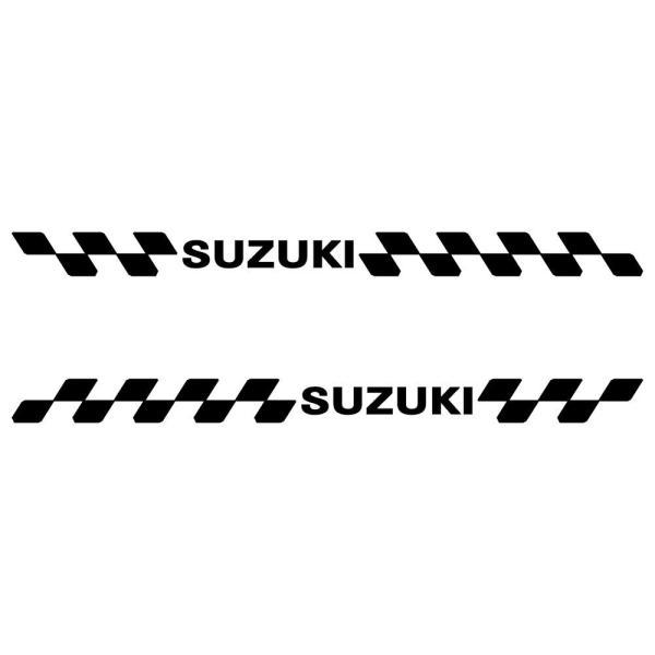 ステッカー SUZUKI スズキ 車 バイク かっこいい レーシング スポーツ エンブレム 両サイド用 ツインセット ginkage 02