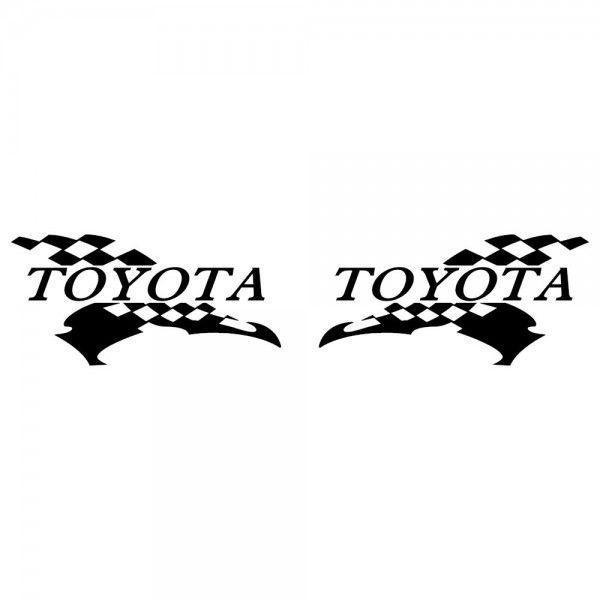 トヨタ 車ステッカー レーシング サイズ: 12cm×24cm×左右反転ツインセット|ginkage|02