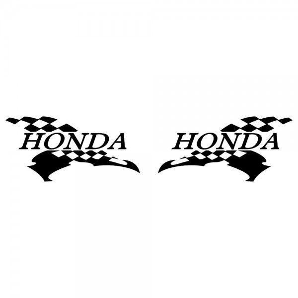ホンダ 車ステッカー レーシング HONDA サイズ: 12cm×24cm×左右反転ツインセット|ginkage|02