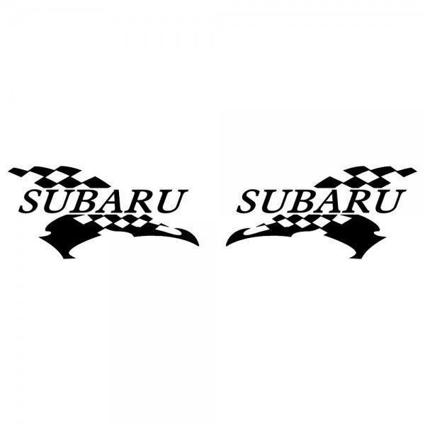 スバル 車ステッカー レーシング SUBARU サイズ: 12cm×24cm×左右反転ツインセット|ginkage|02