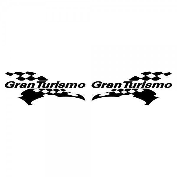 GT ステッカー レーシング GRAN TURISMO サイズ: 12cm×28cm×左右反転ツインセット 車 ステッカー バイク ステッカー|ginkage|02