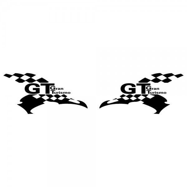 GT ステッカー レーシング GRAN TURISMO サイズ: 12cm×24cm×左右反転ツインセット 車 ステッカー バイク ステッカー|ginkage|02