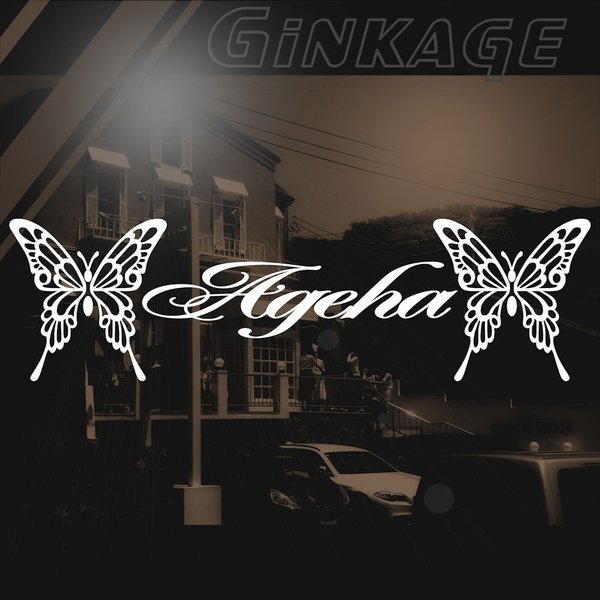 アゲハ 車 ステッカー おしゃれ リアガラス用 カッティング ステッカー|ginkage