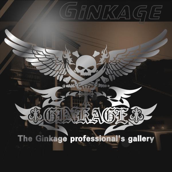ドクロ ステッカー  サイズ:33cm×48cm 車 ステッカー リアガラス用 ステッカー スカル ステッカー|ginkage|03