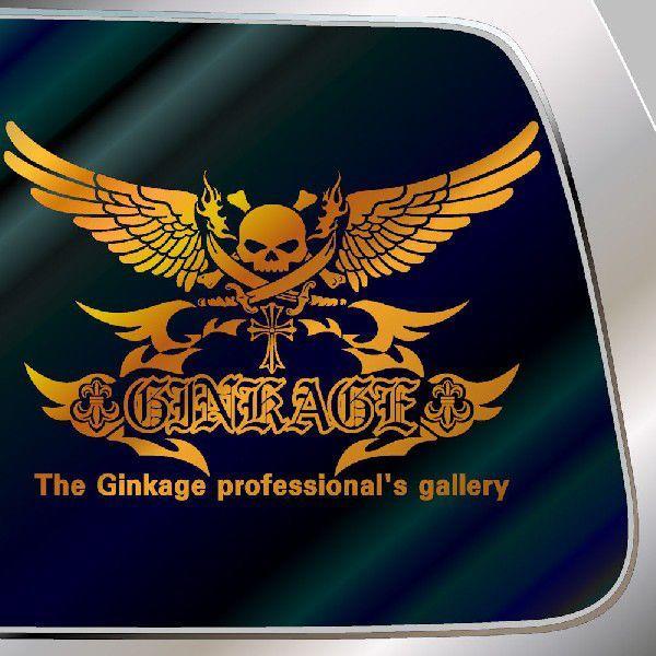 カッコイイ ドクロ ステッカー 車 サイズ:42cm×60cm 車 ステッカー リアガラス用 ステッカー スカル ステッカー|ginkage