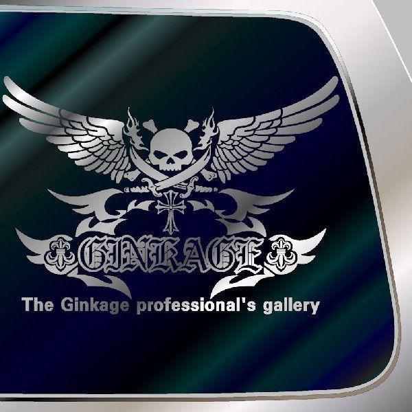 カッコイイ ドクロ ステッカー 車 サイズ:42cm×60cm 車 ステッカー リアガラス用 ステッカー スカル ステッカー|ginkage|02