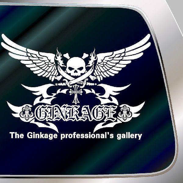 カッコイイ ドクロ ステッカー 車 サイズ:42cm×60cm 車 ステッカー リアガラス用 ステッカー スカル ステッカー|ginkage|03