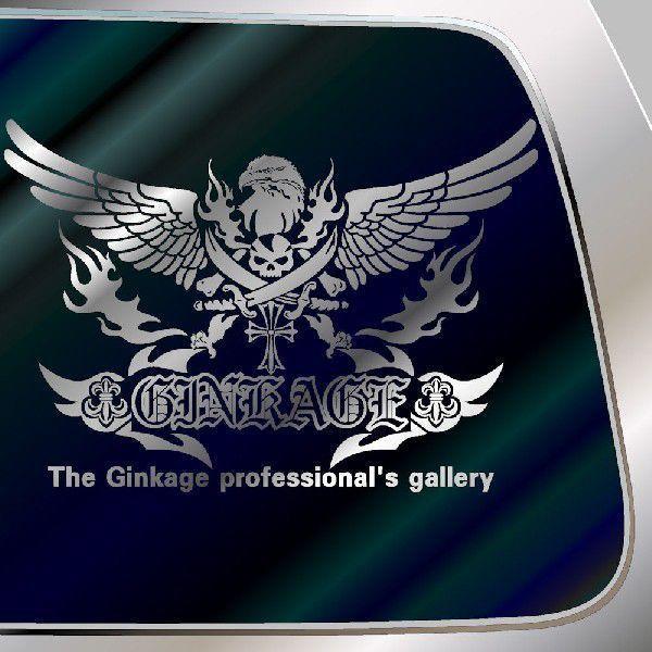 ドクロ ステッカー  サイズ:33cm×48cm かっこいい車 ステッカー リアガラス用 ステッカー スカル ステッカー |ginkage|02