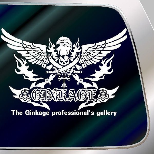 ドクロ ステッカー  サイズ:33cm×48cm かっこいい車 ステッカー リアガラス用 ステッカー スカル ステッカー |ginkage|03