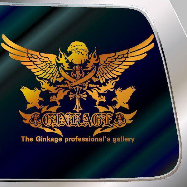 車 ステッカー オールド イングリッシュオリジナルエンブレムのカッコイイ 十字架 リアガラス用|ginkage