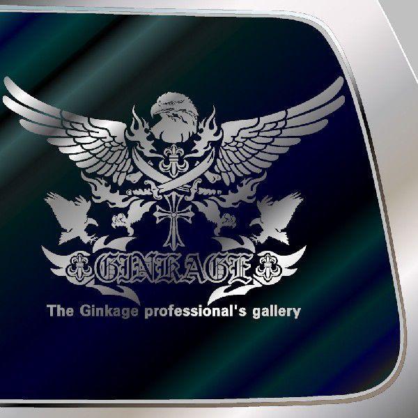 車 ステッカー オールド イングリッシュオリジナルエンブレムのカッコイイ 十字架 リアガラス用|ginkage|02