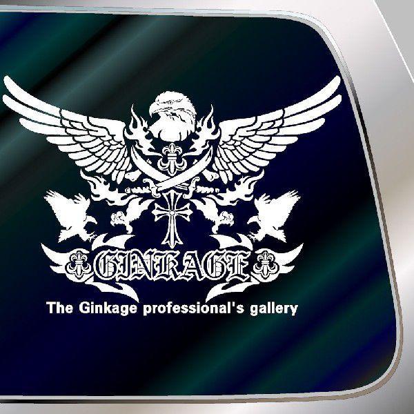 車 ステッカー オールド イングリッシュオリジナルエンブレムのカッコイイ 十字架 リアガラス用|ginkage|03