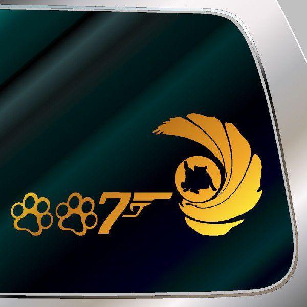 007ニャンコセブン 危機一髪 サイズ:14cm×28cm   猫 ステッカー 車 ステッカー 猫 ステッカー おもしろ     パロディー 猫グッズ|ginkage