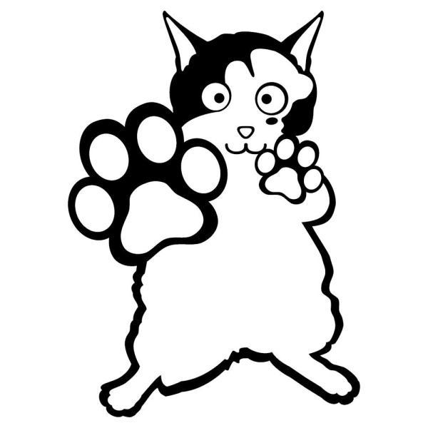 【送料無料】 肉球 ステッカー 猫の手 猫 ポーズ 車 ステッカー 猫用品 猫グッズ 猫 雑貨|ginkage