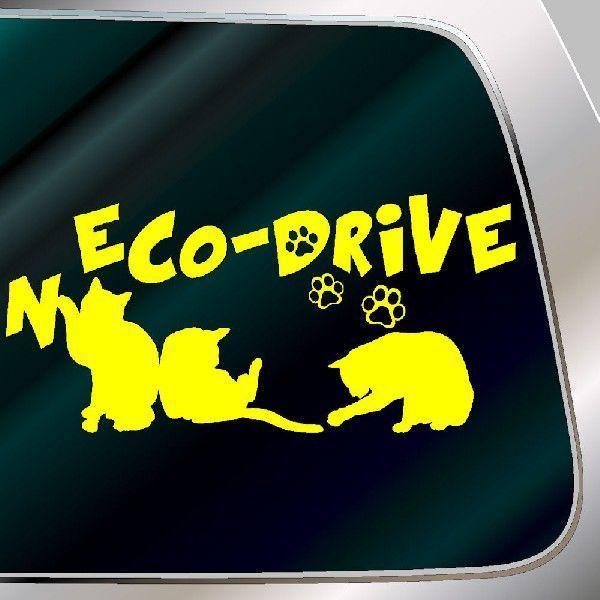 エコ ステッカー かわいい 猫ステッカー サイズ:10cm×20cm   車 ステッカー  ネコ ドライブ 猫グッズ 猫雑貨 ねこ雑貨|ginkage