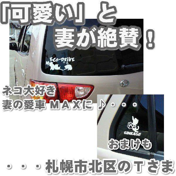エコ ステッカー かわいい 猫ステッカー サイズ:10cm×20cm   車 ステッカー  ネコ ドライブ 猫グッズ 猫雑貨 ねこ雑貨|ginkage|02