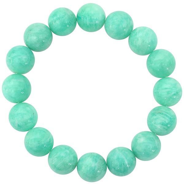 アマゾナイト ブレスレット 12mm 17.5cm 天然石 パワーストーン プレゼント 腕輪 数珠|ginnokura|02