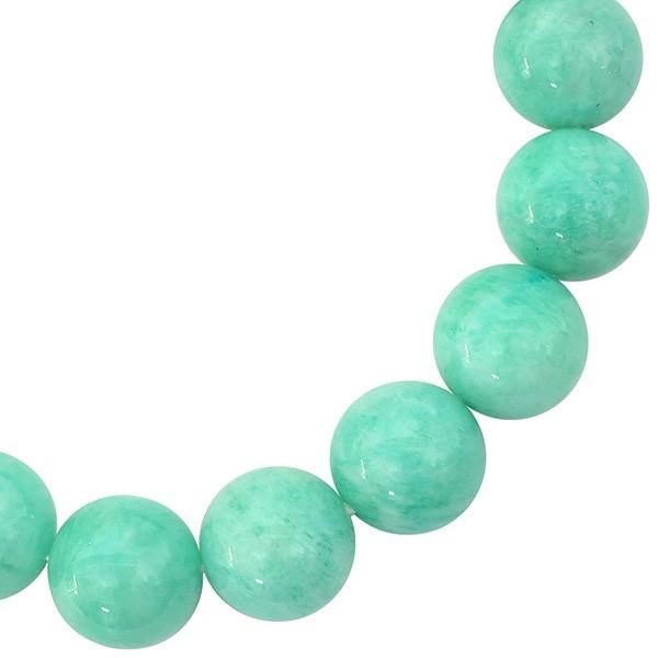 アマゾナイト ブレスレット 12mm 17.5cm 天然石 パワーストーン プレゼント 腕輪 数珠|ginnokura|03