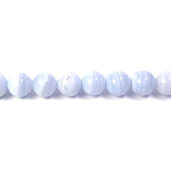 天然石ビーズ ブルーレース 8mm 丸玉 4玉セット パワーストーン 天然石ビーズ ブルーレース 粒売り プレゼント|ginnokura|02