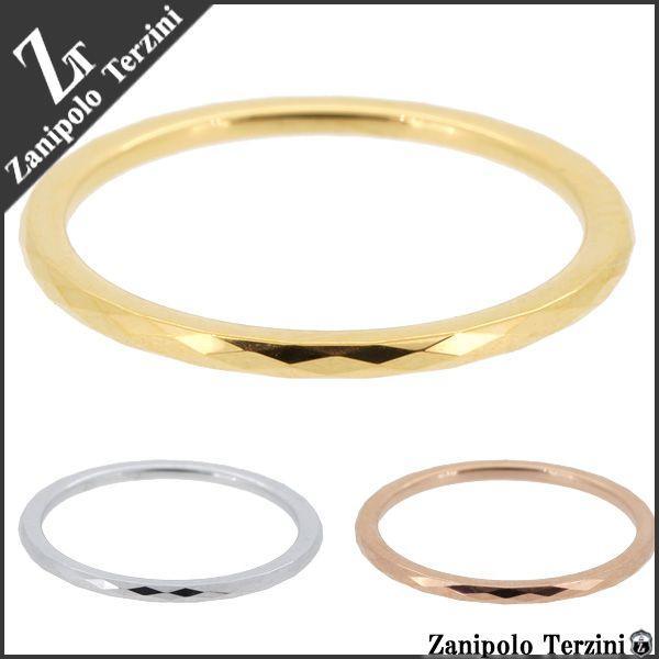 ザニポロタルツィーニ 指輪 ピンキーリング レディース サージカルステンレス 細身ダイヤライン 3-11号 ブランド Zanipolo Terzini