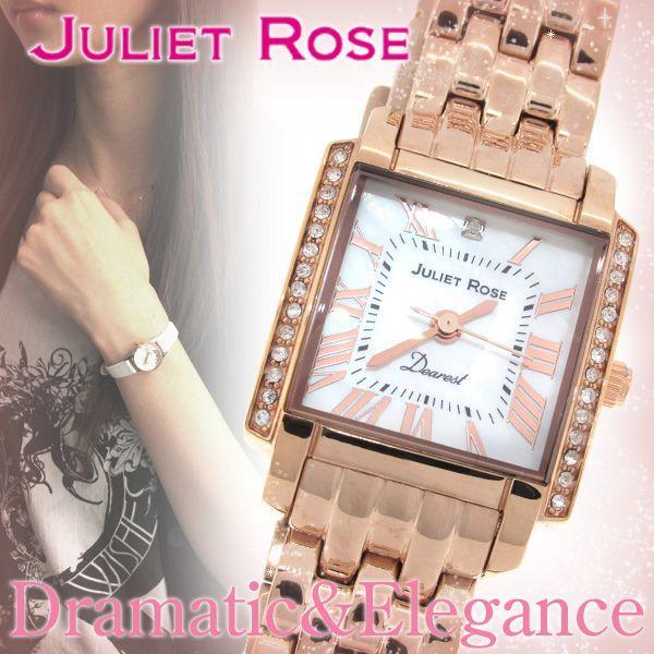 腕時計 レディース ブランド JUL202 ダイヤモンド ピンクゴールド レディース腕時計|ginnokura