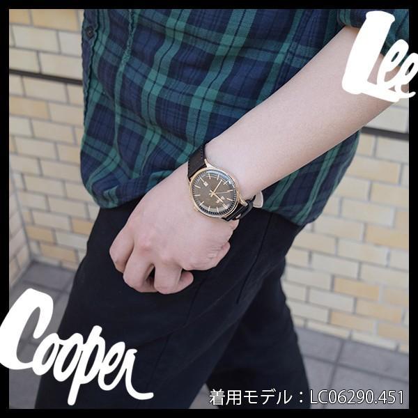 Lee Cooper リークーパー 腕時計 メンズ ブランド デニム レザーベルト ネイビー LC06290.339 時計 Lee Cooper リークーパー|ginnokura|05