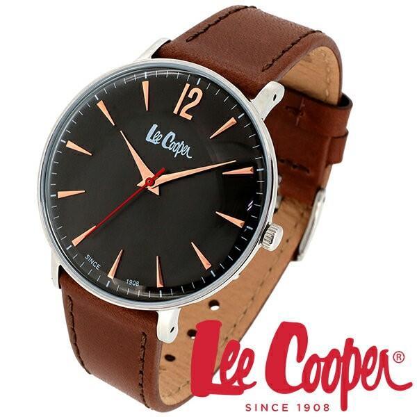 Lee Cooper リークーパー 腕時計 メンズ ブランド レザーベルト ブラウン ブラック LC6379.362 時計 Lee Cooper リークーパー|ginnokura