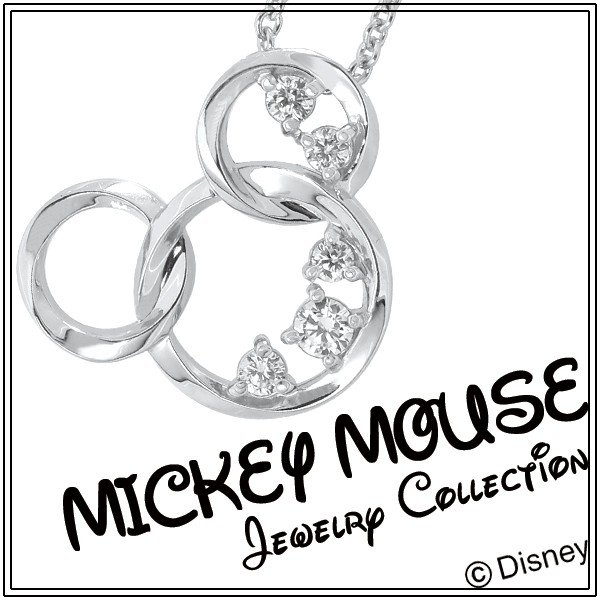 ディズニー ネックレス ミッキー 輝くリング ミッキーマウス シルバー Disney ディズニーネックレス disney_y|ginnokura