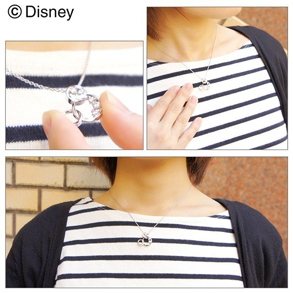 ディズニー ネックレス ミッキー 輝くリング ミッキーマウス シルバー Disney ディズニーネックレス disney_y|ginnokura|04