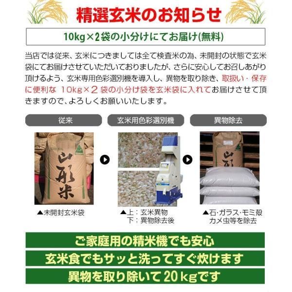 玄米 20kg コシヒカリ 米 福島中通り産 送料無料 平成29年産 1等米 選べる精米方法 お米|ginshari|04
