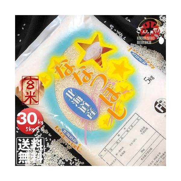 米30kg5kg×6袋セットお米玄米ななつぼし北海道産玄米白米分づき米令和2年産