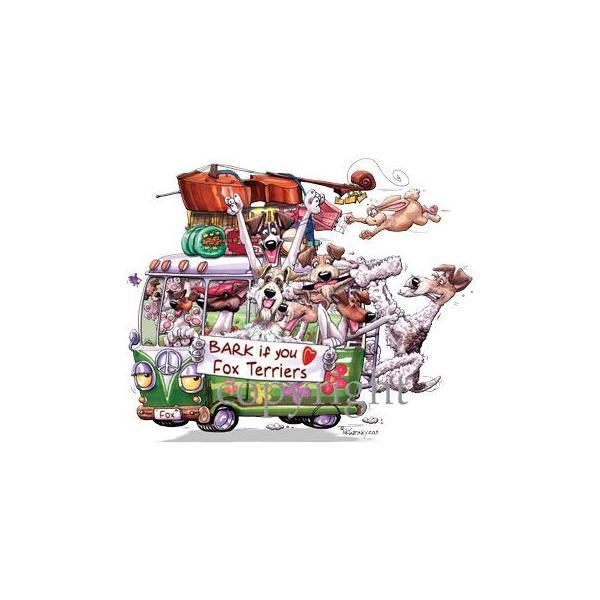 MCドッグワゴン Tシャツ フォックステリア 輸入雑貨 犬雑貨 犬グッズ