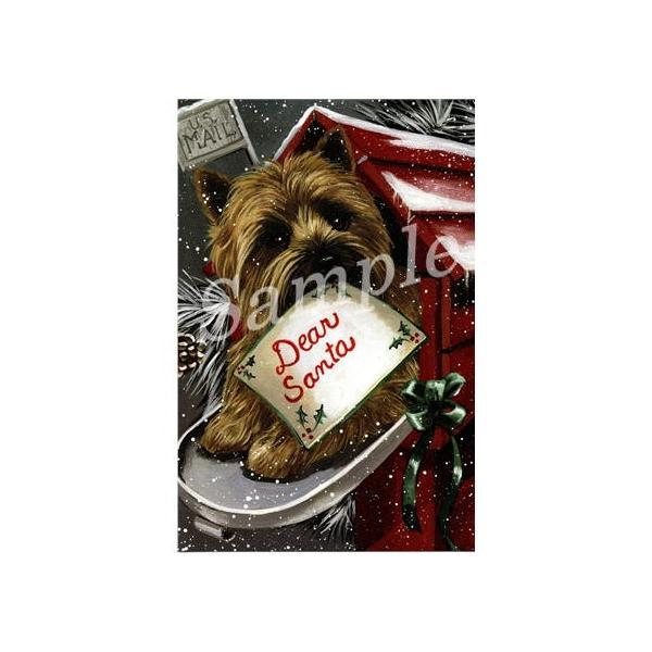 クリスマスカード ケアーン・テリア/ケアン Letter for Santa 輸入雑貨 犬雑貨 犬グッズ