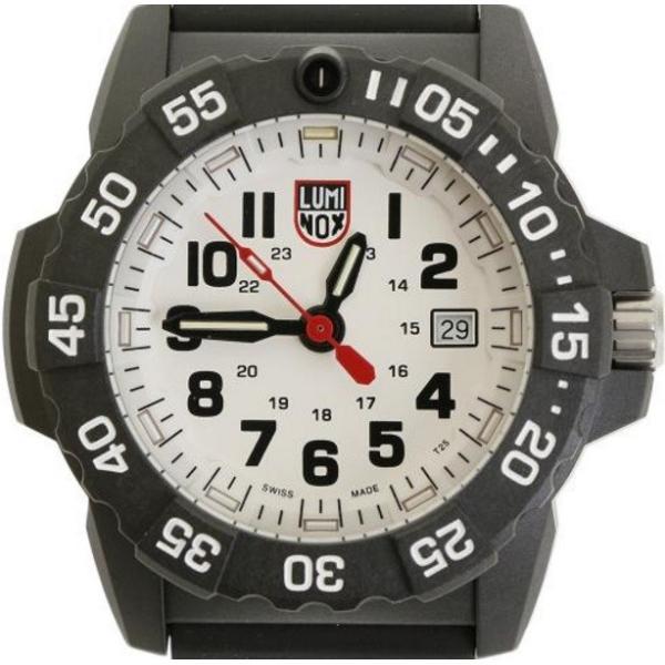 2089c8f553 ... 腕時計 メンズ ルミノックス(Luminox) 海 ネイビーシールズ3500シリーズ 日付表示 ポリウレタンベルト ブラック