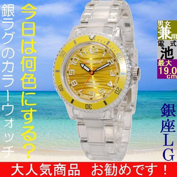 腕時計 アバランチ(AVALANCHE) アルパイン(ALPINE) クリア/イエロー色 小 AV-101P-CLYW-40 / 当店再検品済