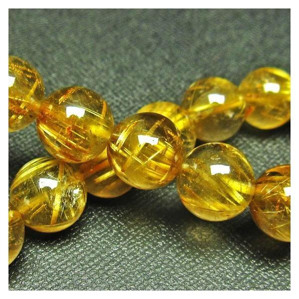 ゴールドタイチンルチル ブレスレット 11mm t36-5627