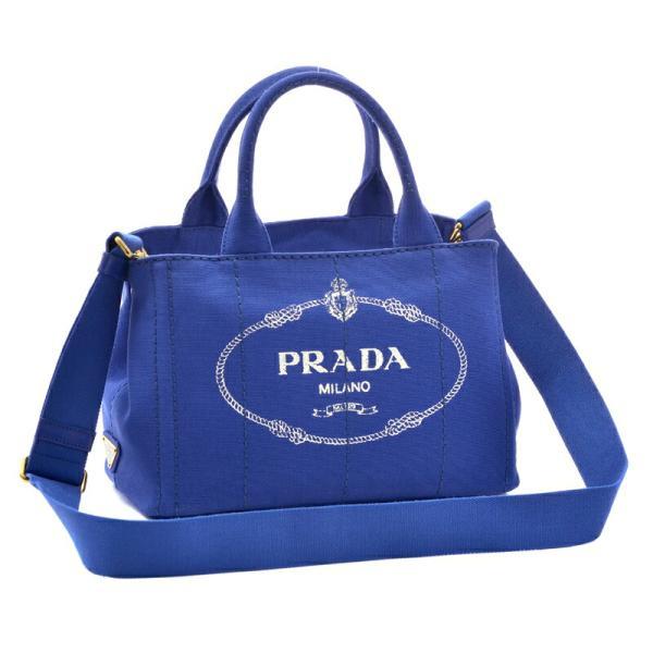 プラダ PRADA 2WAYハンドバッグ CANAPA 1BG439 COBALTO