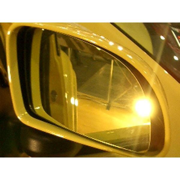アウトバーン 広角ドレスアップサイドミラー/ゴールド メルセデスベンツ Cクラス(W204) 07/06〜09/07