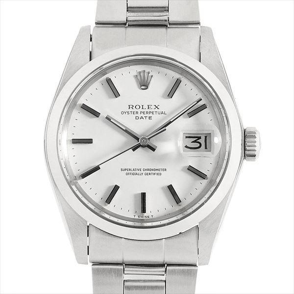 reputable site d1ef6 bd9e6 48回払いまで無金利 SALE ロレックス オイスターパーペチュアル デイト 34番 1500 ホワイト/バー アンティーク メンズ 腕時計