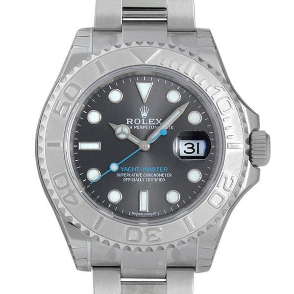 low priced fd4ff 33599 ロレックス ヨットマスター ロレジウム 116622 ダークロジウム 新品 メンズ 腕時計