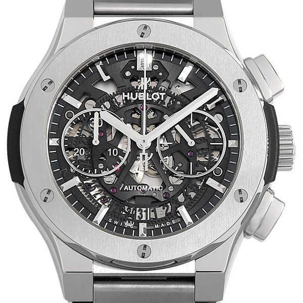 48回払いまで無金利 ウブロ アエロフュージョン チタニウム ブレスレット 528.NX.0170.NX 新品 メンズ 腕時計|ginzarasin